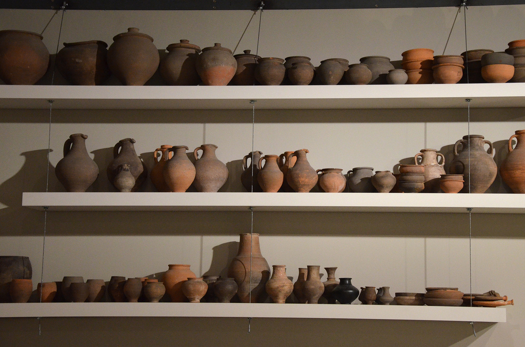 Earthenware made in Tongeren. Gallo-Roman Museum of Tongeren, Belgium.