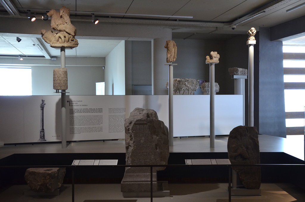 Votive stones and images of gods, from the Temple complex and other sacred places. Gallo-Roman Museum of Tongeren, Belgium.