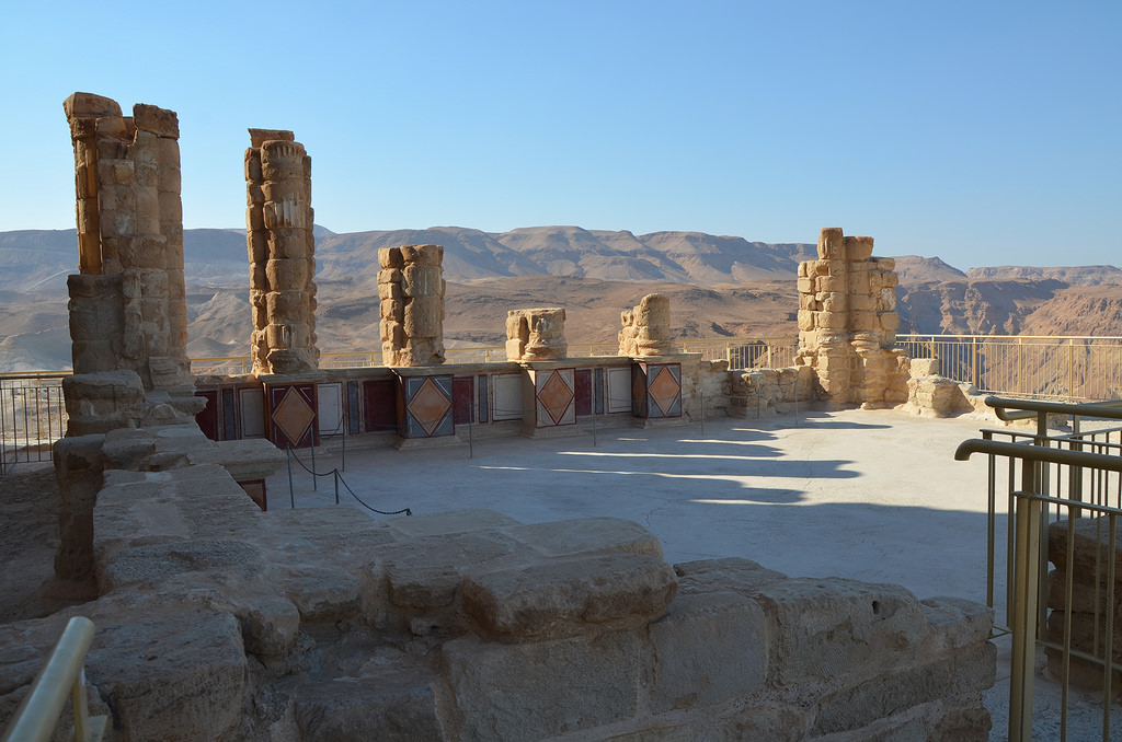 The lower terrace of Herod's Northern Palace.