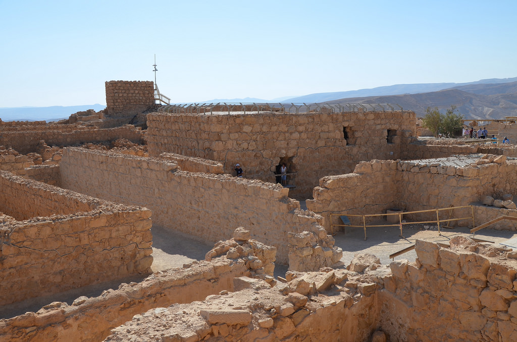 View of the storeroom complex and the large Bathhouse.