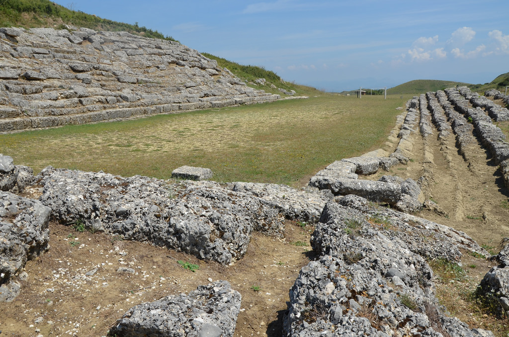 The Stadium of Amantia built in the 3rd century BC.