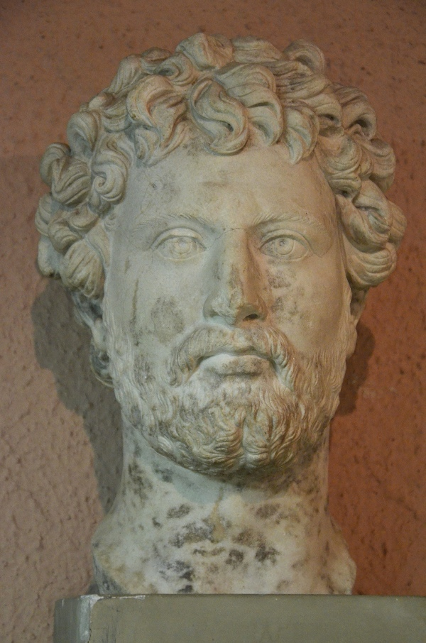 Portrait of Hadrian found in Apollonia, Archaeological Museum of Tirana.