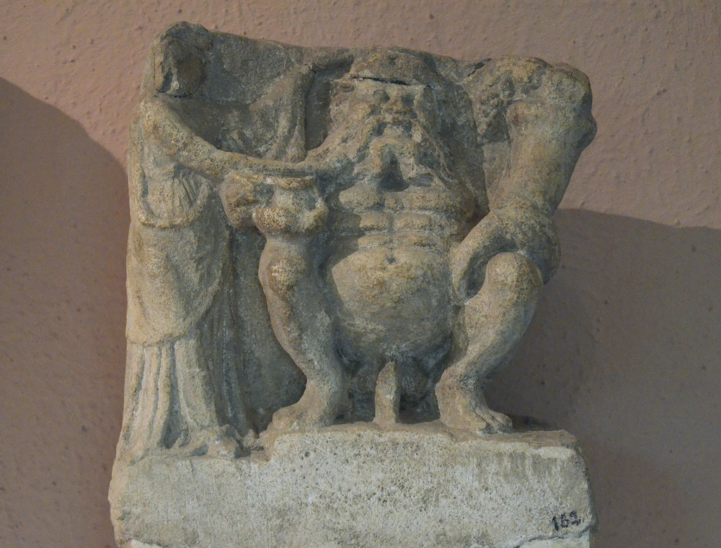 God of fertility holding a cornucopia, 3rd-2nd century BC, from Amantia, Archaeological Museum of Tirana.