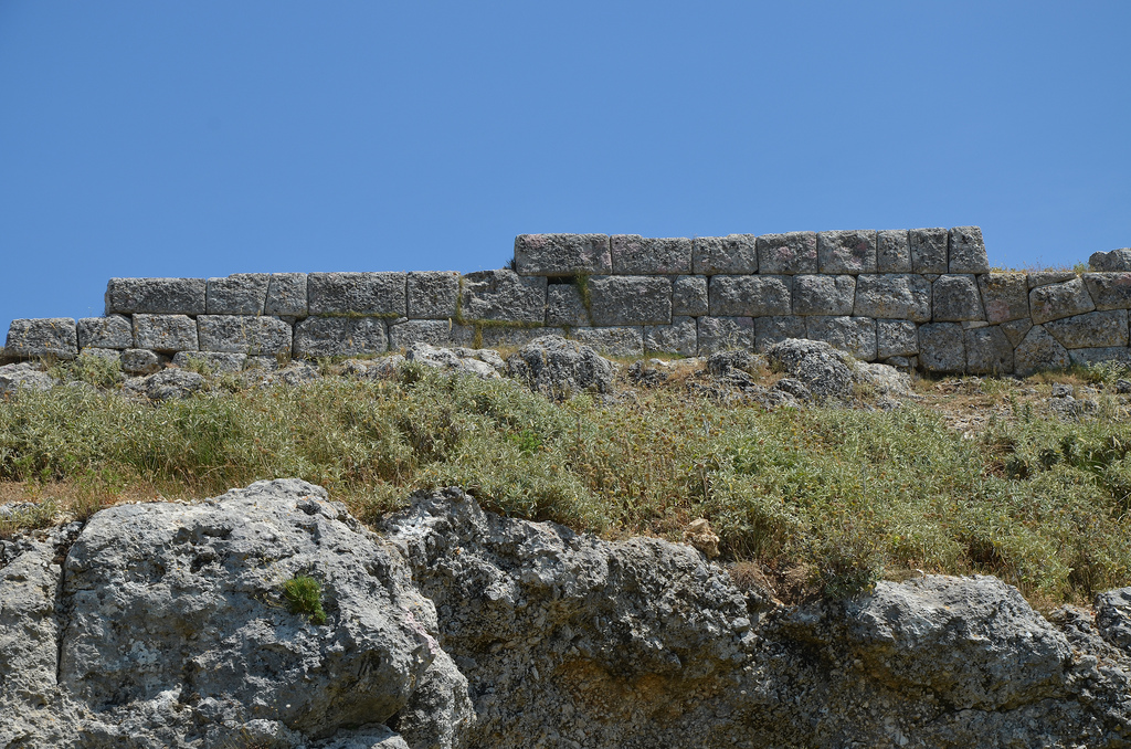 Part of the surrounding wall of Amantia dating back to around 450 BC....