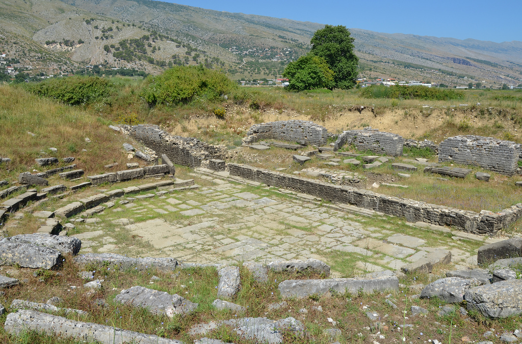 The Hadrianic theatre had 24 rows of seats made of limestone blocks, seating about 3500-4000 spectators.