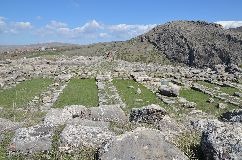 The area of the Great Temple with storerooms surrounding the temple proper.