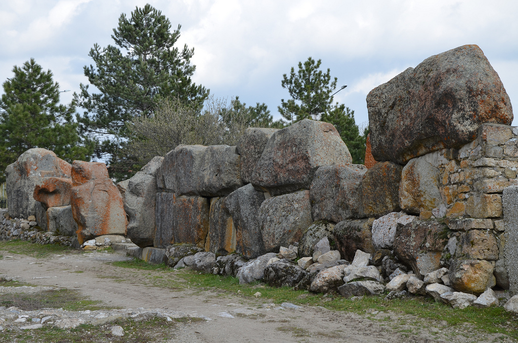 Cyclopean stone wall.