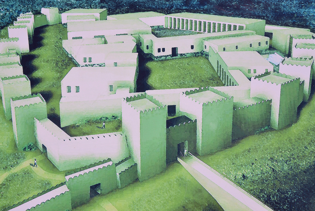 Reconstruction of the palace complex.