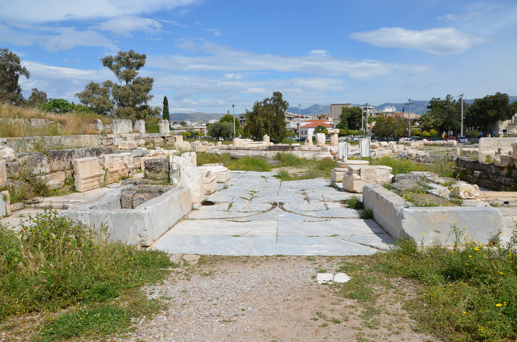 The Lesser Propylaea, a small gateway to the Sanctuary of Demeter and Kore built ca. 60 BC - ca. 10 BC, Eleusis