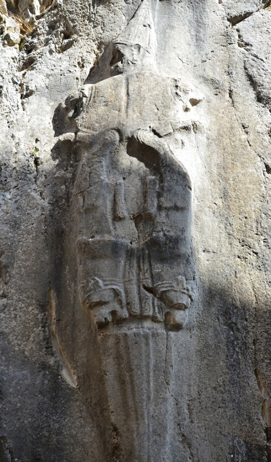 East wall of Chamber B with a depiction of Negal, the Sword God and God of the Underworld.