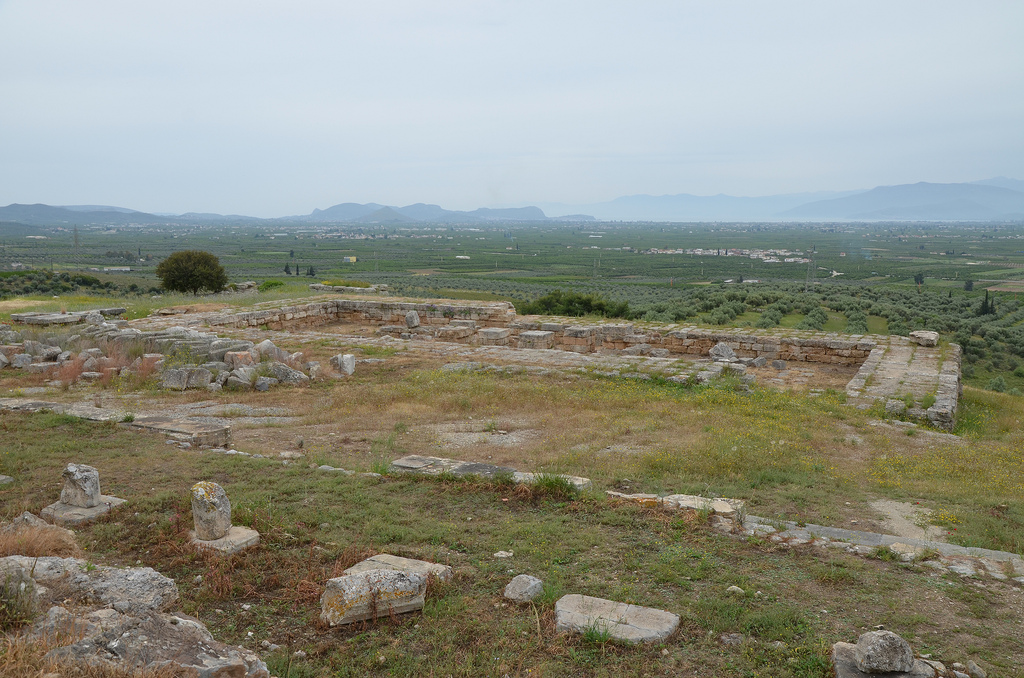 Overall view of New Temple of Hera from the North Stoa.