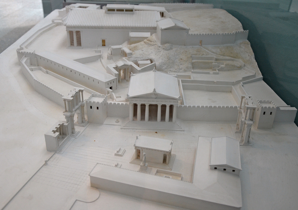 Model of the Sanctuary of Eleusis.