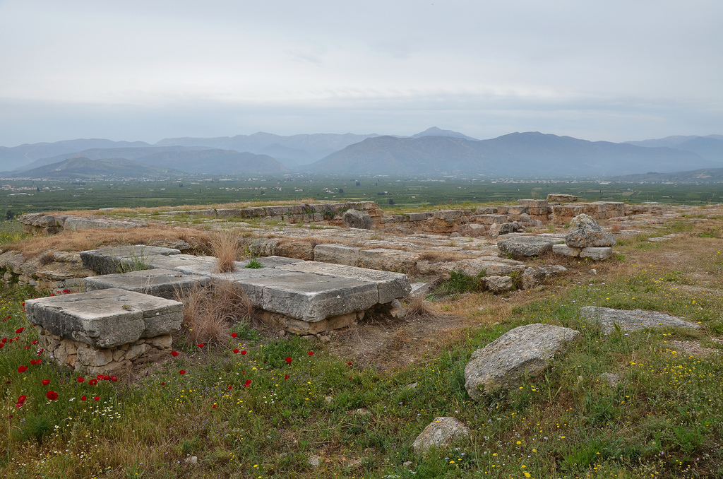 Northeast corner of the New Temple of Hera on the middle terrace.