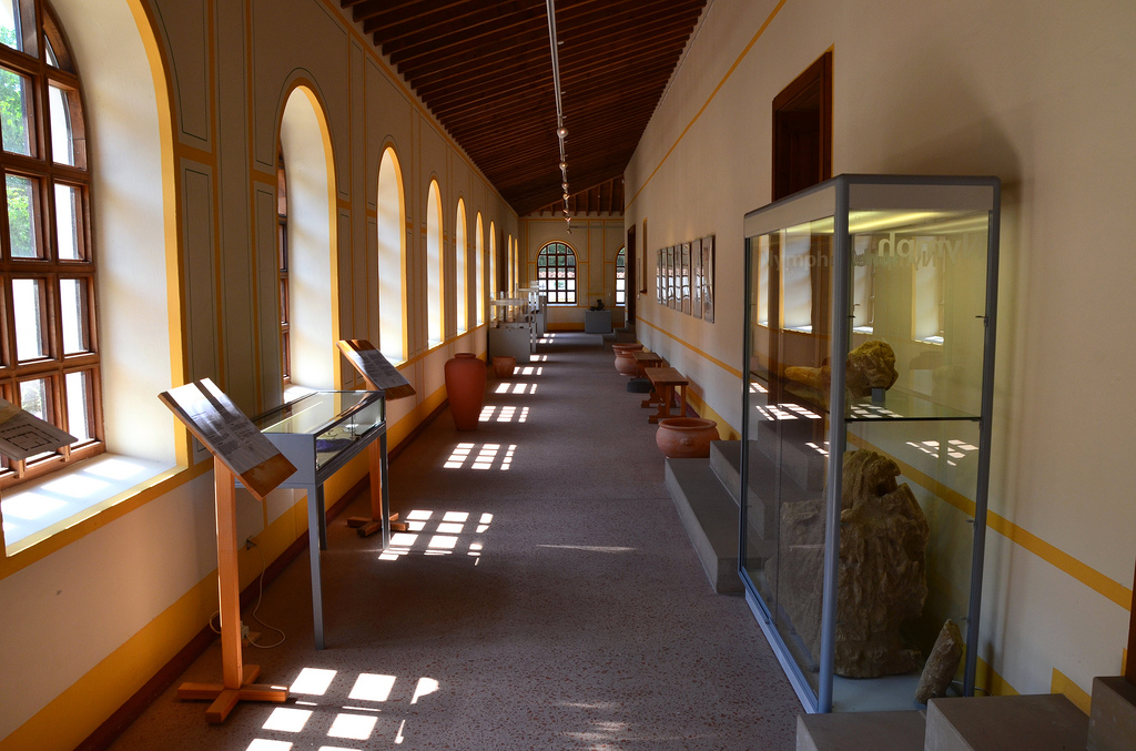 The exhibition area.