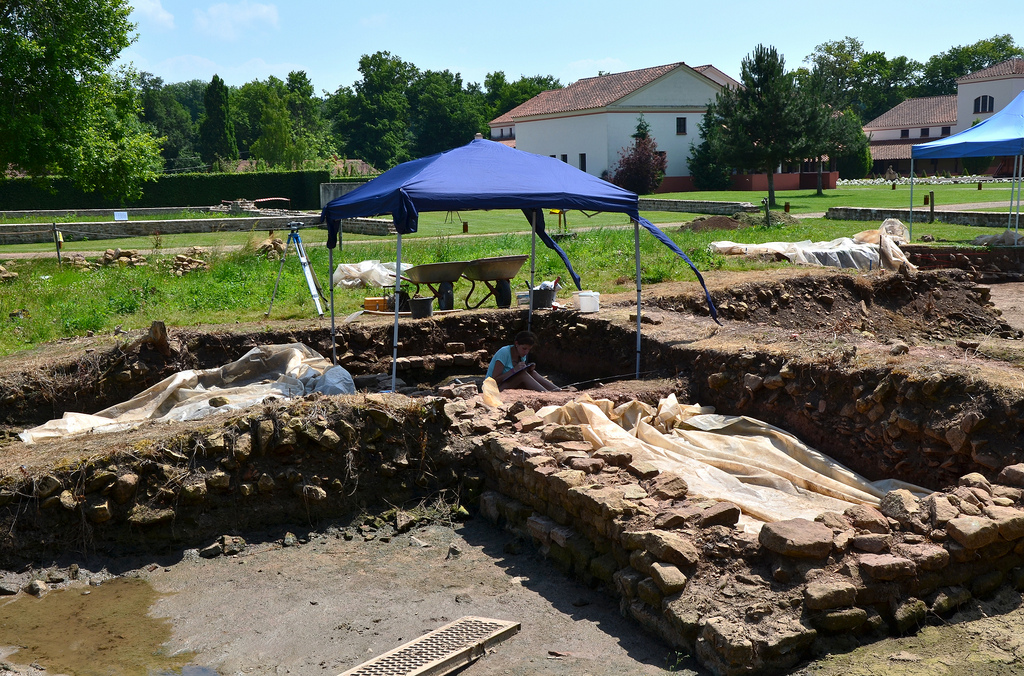 Excavation work at the Villa Borg.