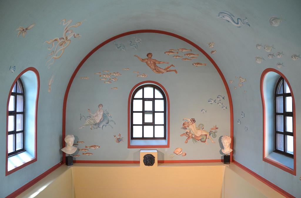 The reconstructed frigidarium (cold bath).