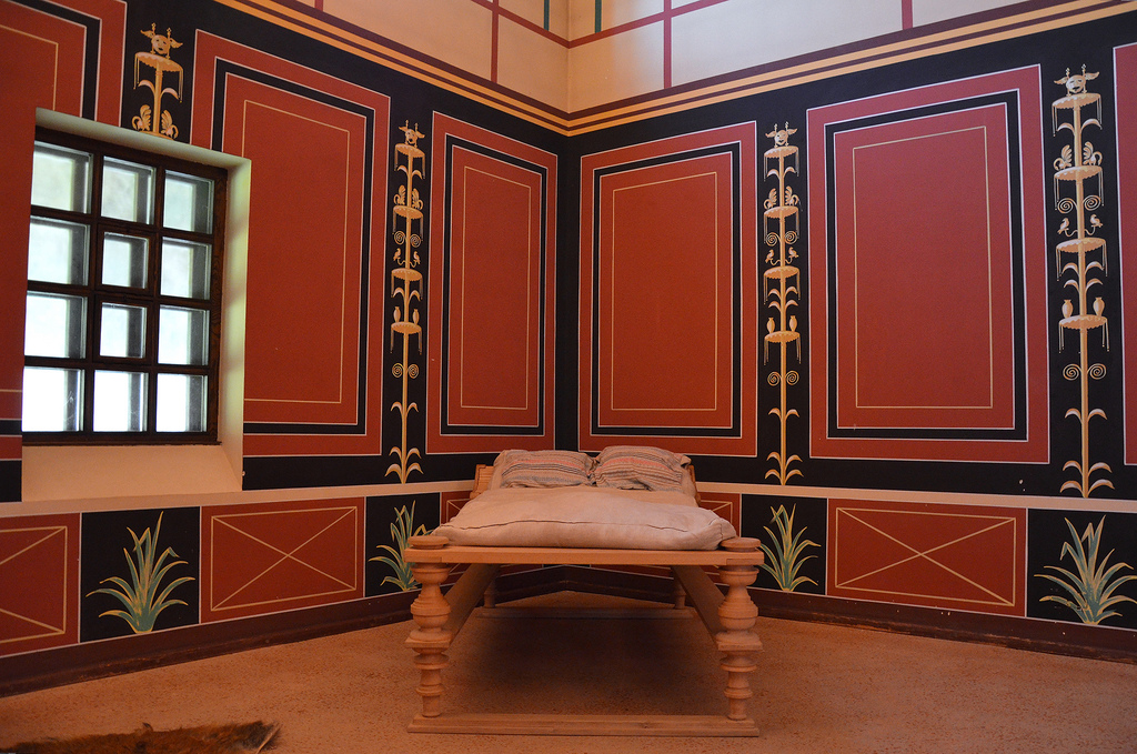 The reconstructed laconicum (resting room).