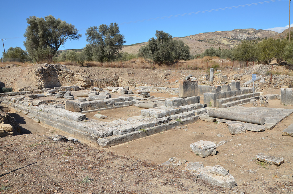 The Temple of Apollo Pythios, the main sanctuary of pre-Roman Gortyn built in the 7th century BC.