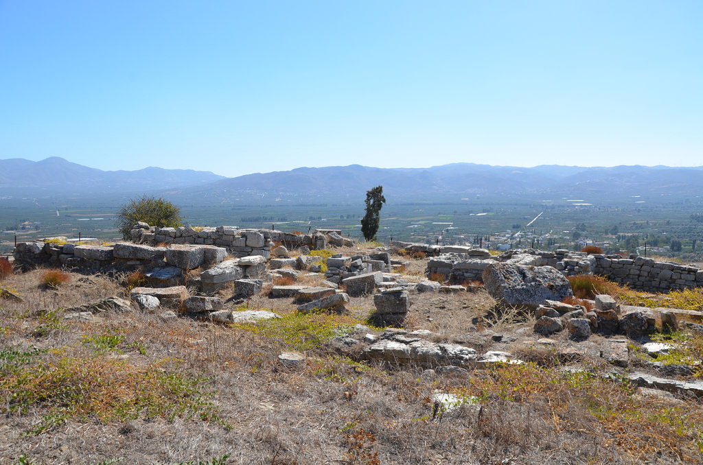 The remains of the Temple of Athena on the Acropolis of Gortyn. The temple was built in the 7th century BC and converted to a basilica in the 6th century AD.
