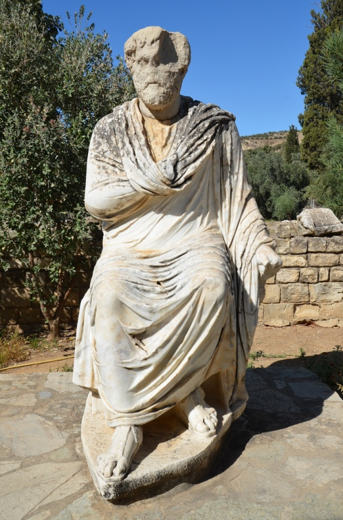 Statue of emperor Antoninus Pius (original head in the Heraklion Museum).