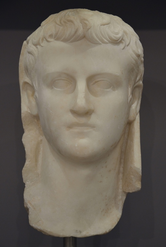 Portrait of emperor Caligula.