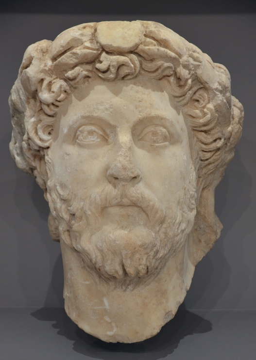 Portrait of emperor Marcus aurelius.