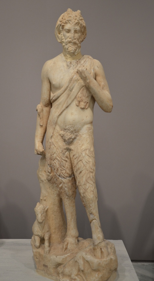 Small marble statue of the goat-like Pan, 2nd century AD.