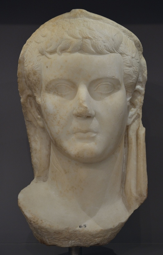 Portrait of emperor Tiberius.