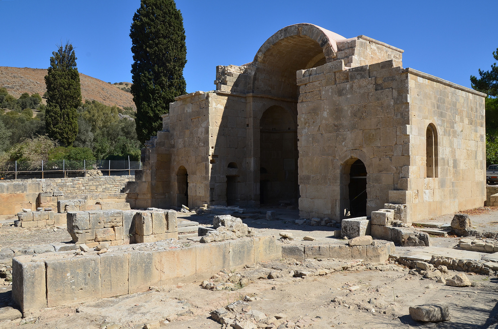The Church of Haghios Titus. It was built in the 6th century AD, but much of what survives certainly belongs to later repairs and additions.