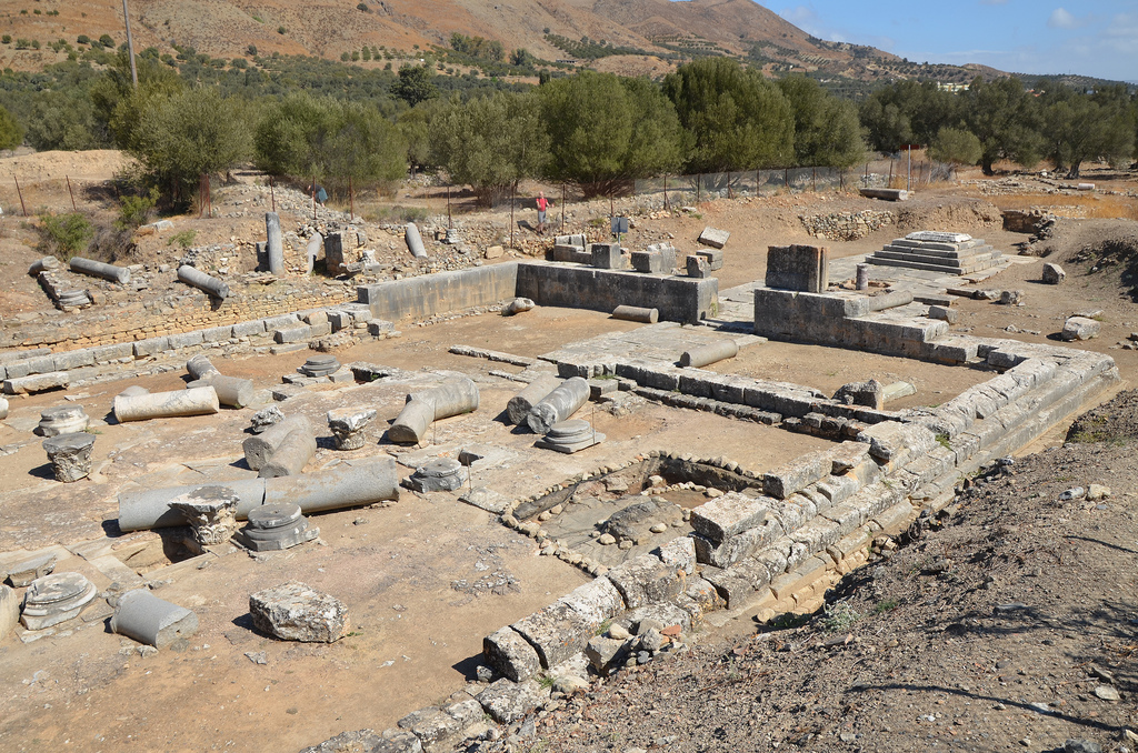 Overview of the Temple of Apollo Pythios.