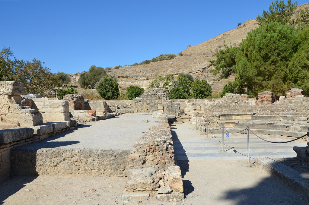 The Roman Odeum, built in the 1st century BC and after being damaged by an earthquake, was restored by Trajan, Gortyna, Crete