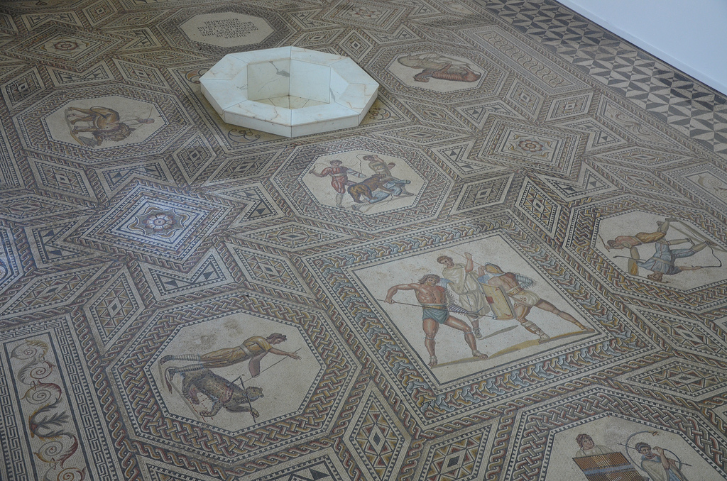 General view of the Nennig Mosaic.