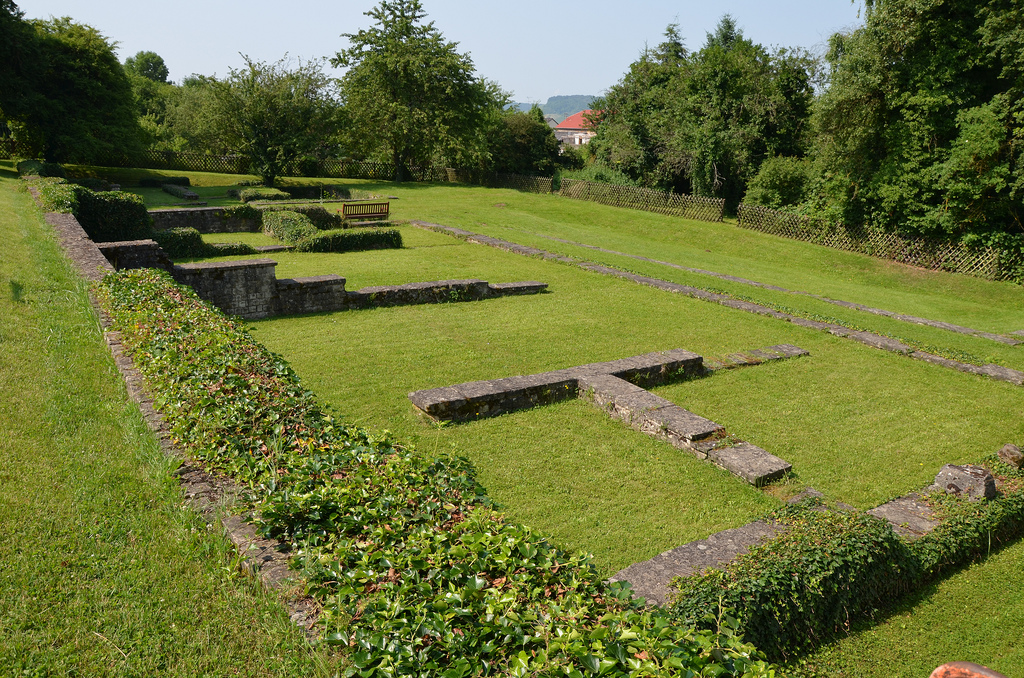 The foundation remains of the Roman villa in Nennig.