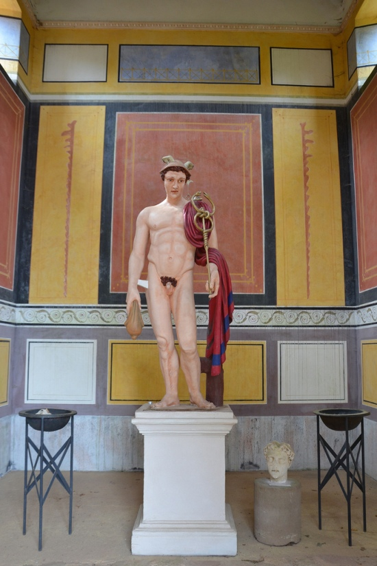 Reconstruction of the Mercury statue inside of the main temple dedicated to the god.