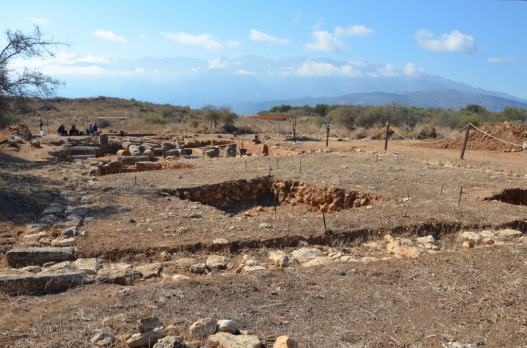 The ongoing excavations at the Roman residence.