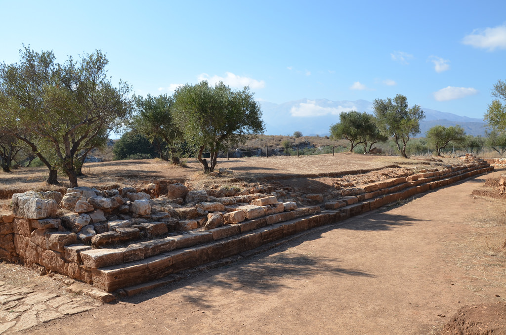 The long stepped construction at the north side of the ancient theatre. Its exact function is not clarified yet but it may have served as stands for event taken place in front of it. It is dated to the Hellenistic period but does not below to the initial phase of construction of the theatre.