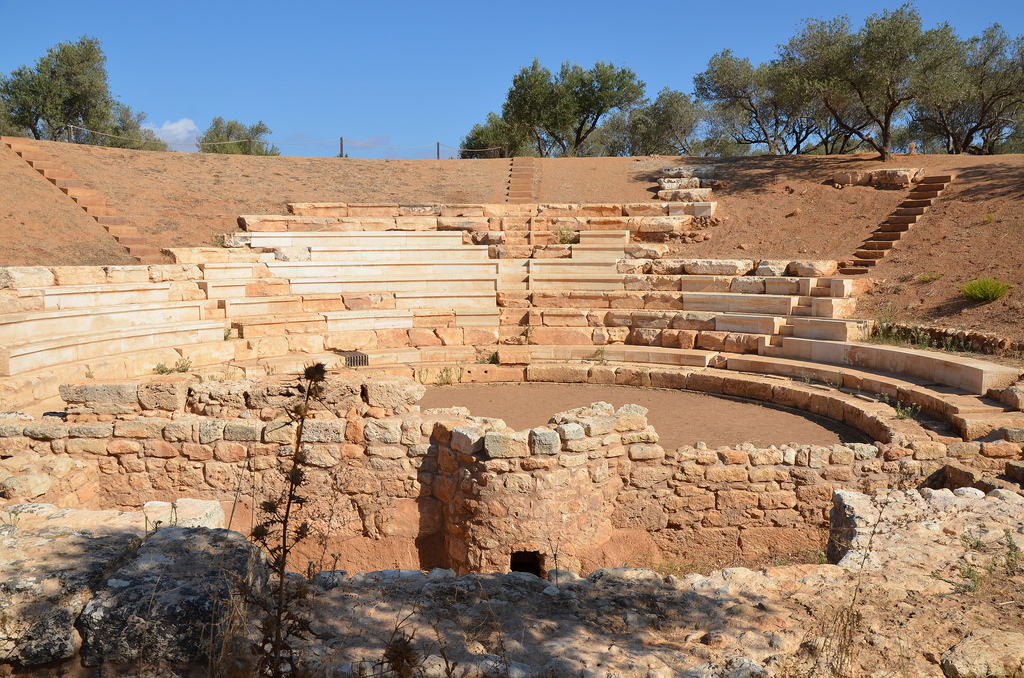 The remains ancient theatre dating back to the early Hellenistic period and modified during the Roman period (from the 1st century AD to the 3rd century AD).