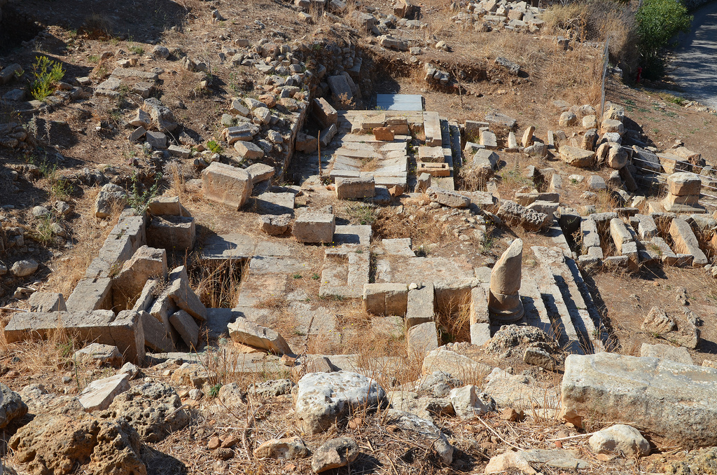 The remains of an Heroon from the 1st -2nd century AD with inscribed pedestals and a mausoleum.