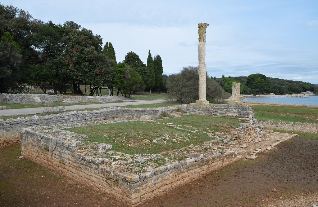 The ruins of the Temple of Venus.