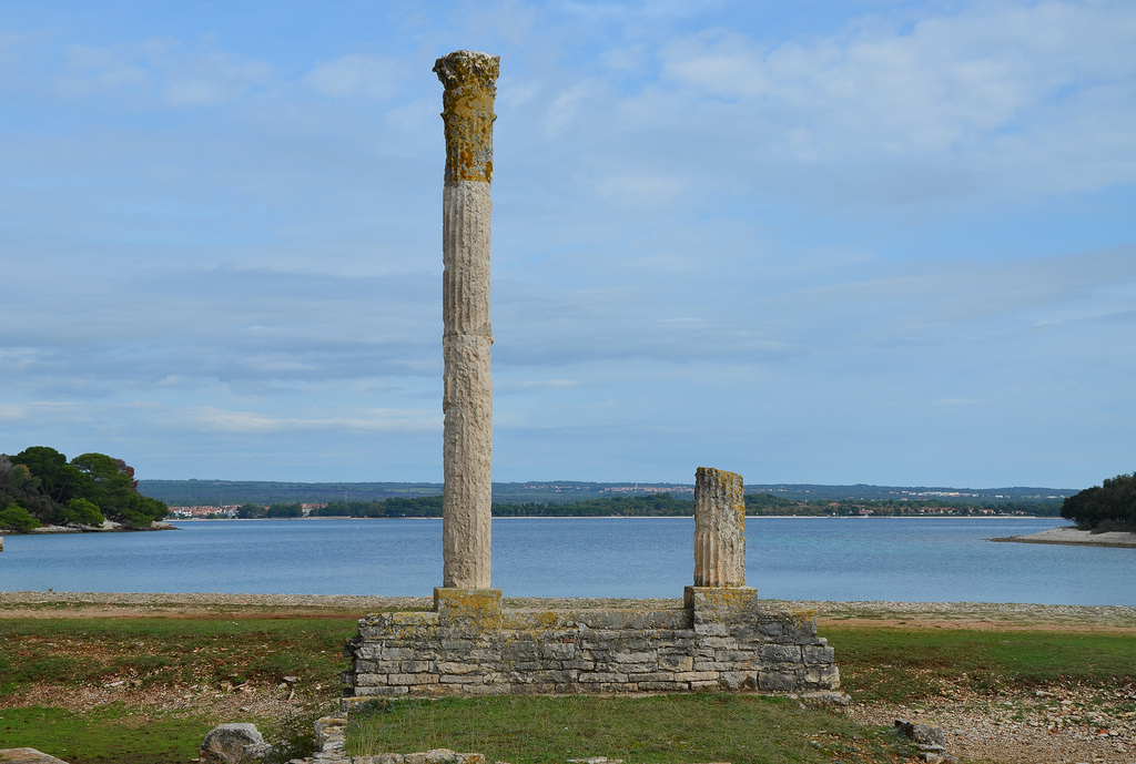 The columns of the Temple of Venus.
