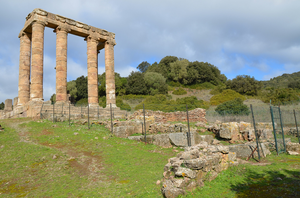 In front of the temple are the excavated structures belonging to the Punic phase of the temple.