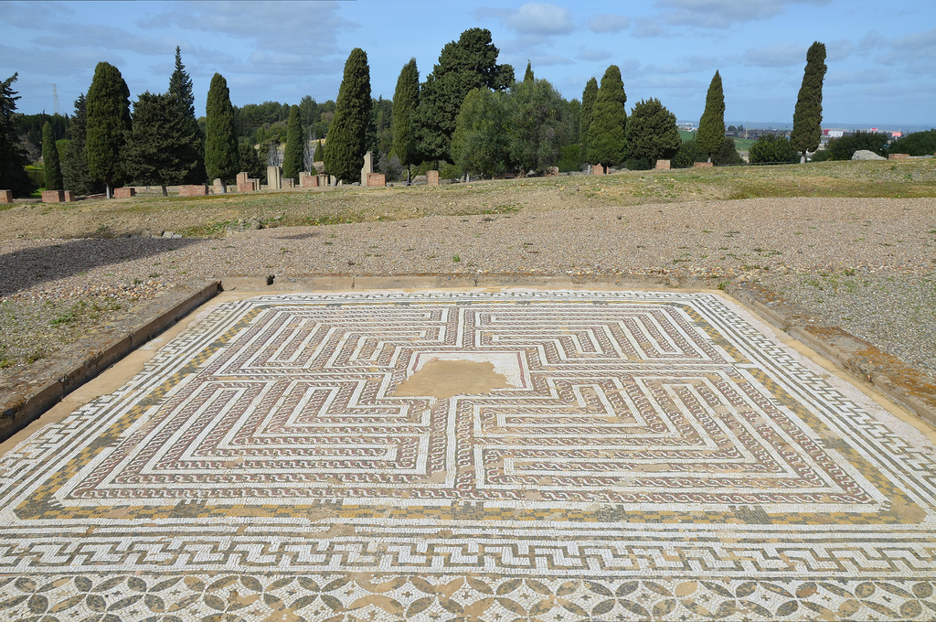 The Labyrinth Mosaic in the House of Neptune.