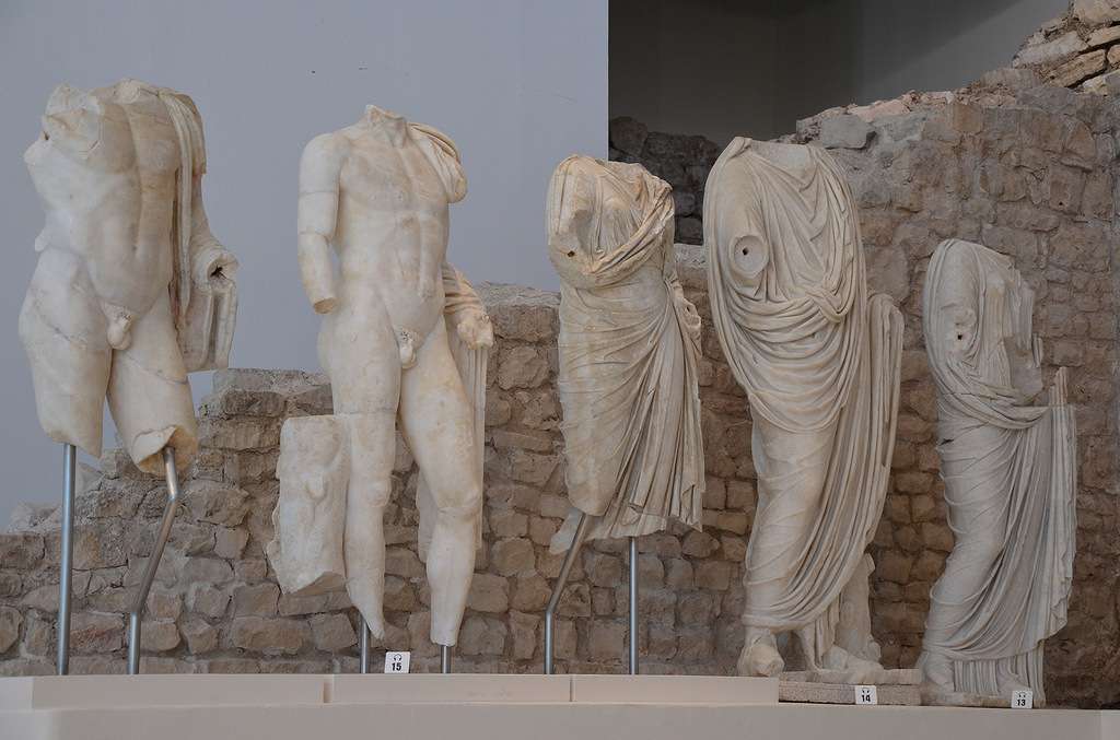 From left to right: Lucius Caesar, Gaius Caesar, Julia, Agrippa and Antonia Minor.