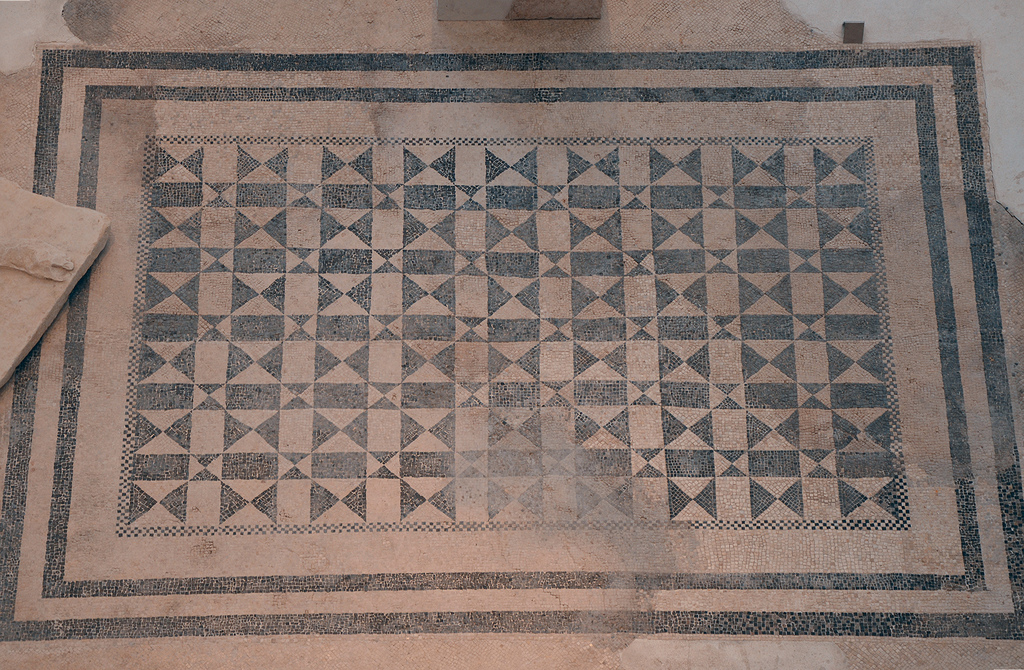 The mosaic floor of the Augusteum's cella.