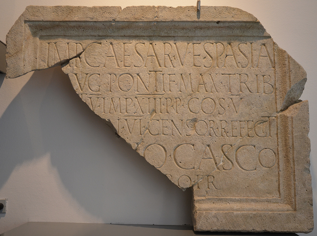 Honorary inscription for the emperor Vespasian.