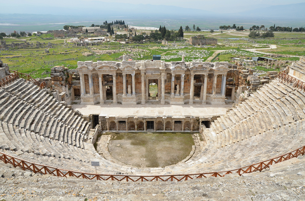 The Roman theatre, built in the 2nd century AD under Hadrian on the ruins of an earlier theatre, later renovated under Septimius Severus.