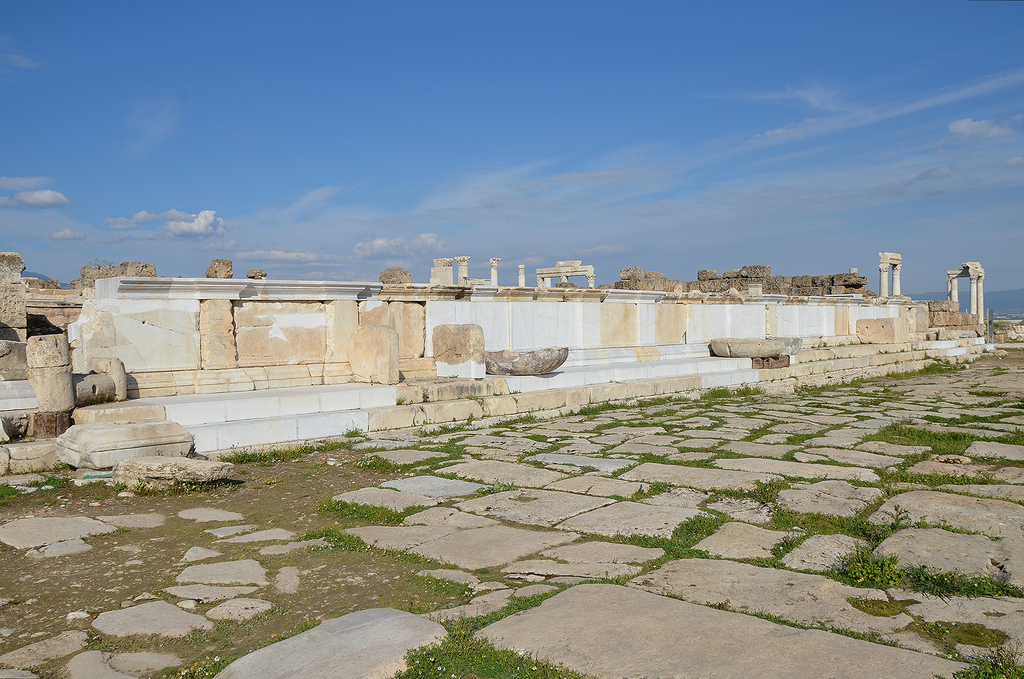The monumental nymphaeum built during the reign of Septimius Severus.