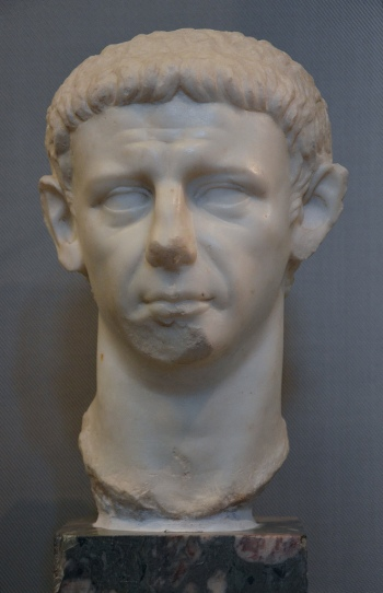 Portrait of Claudius, probably refashioned during the age of Claudius on the basis of a portrait of Caligula.