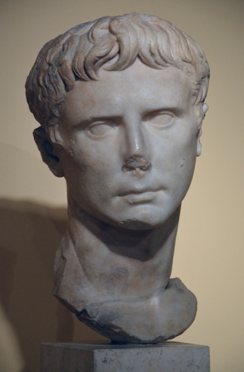 Portrait of Augustus, 27-20 BC.
