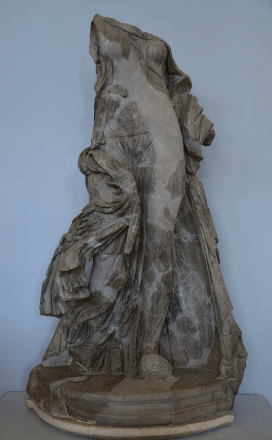 Statue made in dark grey marble (bigio antico) known as the Victory of the Symmachi, probably representing a dancing woman.